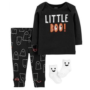 Baby Boys 3-Pc Little Boo Halloween Outfit 18m NWT